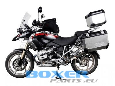 kufry aluminiowe TRAX 37 + 45 L srebrne zestaw do BMW R1200-1150-1100GS