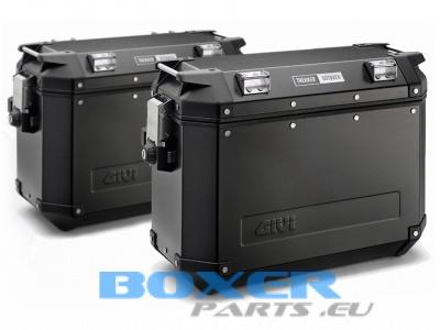 TREKKER OUTBACK kufry 48 + 37 litrów czarne komplet (L+P)