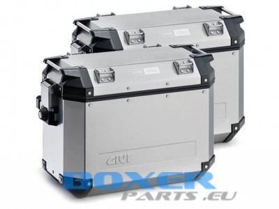 TREKKER OUTBACK kufry 37L lewy + 48L prawy srebrne komplet