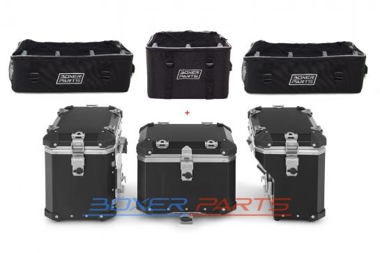 3 torby x 3 kufry Wunderlich Extreme czarne do BMW R1250 R1200 F850 F750