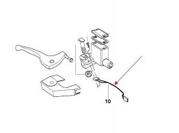 włącznik światła stop F650 przedniego hamulca
