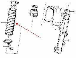 osłona gumowa rury widelca R80G/S