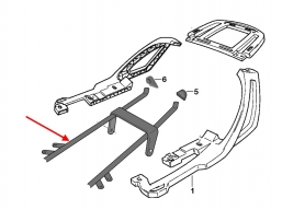 rama pomocnicza pod kufer centralny R1150RT  R1100RT R1150RS R1100RS