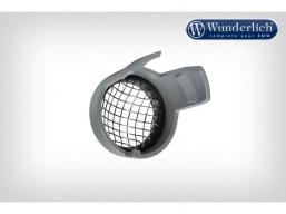 osłony halogenów LED srebrna z kratką (2 szt)