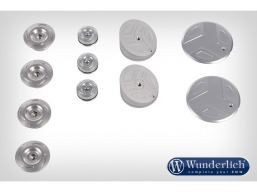 Wunderlich zaślepki ramy R1200GS LC  zestaw 11 szt kolor srebrny