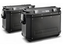 TREKKER OUTBACK kufry 48 litrów czarne komplet (L+P)