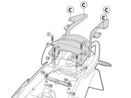 stelaż do kufra centralnego BMW R1200R