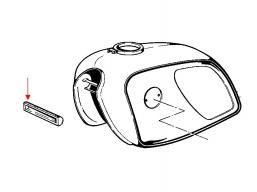 łoże gumowe zbiornika paliwa BMW