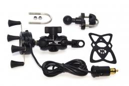 uchwyt telefonu typ X-GRIP z kulą i ładowarką USB z wtykiem BMW