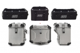 3 torby x 3 kufry Wunderlich Extreme srebrne do BMW R1250 R1200 F850 F750