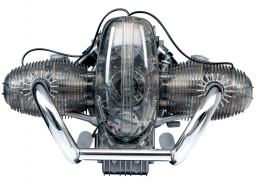 BMW R90S - model silnika do składania RUCHOME WNĘTRZE