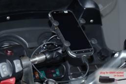 uchwyt telefonu ze złączem do instalacji BMW K1600GT-L R1250RT R1200RT R1150RT
