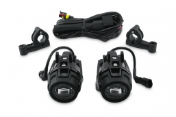 halogeny LED + włącznik + przewody do motocykli BMW