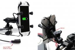uchwyt telefonu typu X-Grip ze przyłączem do instalacji BMW