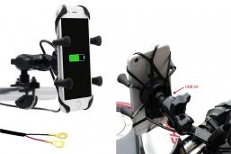 uchwyt telefonu typ X-GRIP z kulą i ładowarką USB